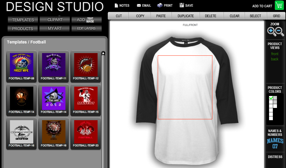 Inksoft design studio online t shirt design software inksoft for Custom t shirt software