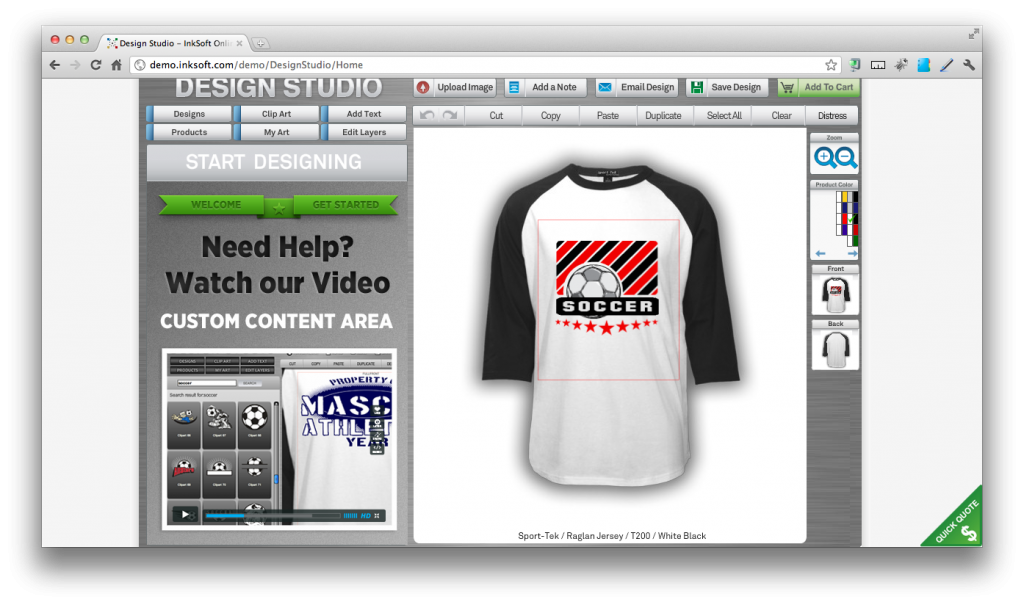 t shirt design software: