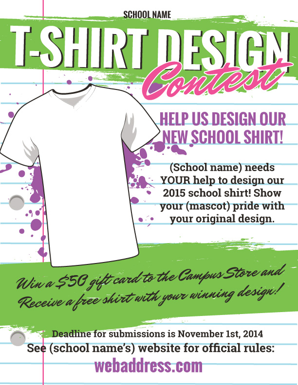 T Shirt Design Contest Maketing Flyers | InkSoft | InkSoft
