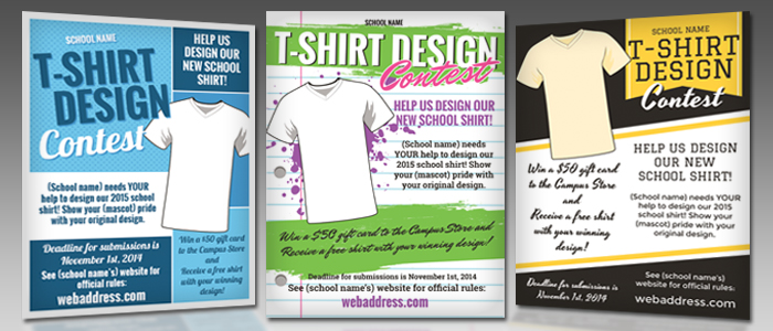 T-Shirt Design Contest Maketing Flyers | InkSoft | InkSoft